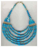Turquoise blue necklace from crafts international of India