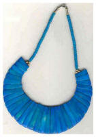 Blue ethnic inspired necklace from crafts international of India