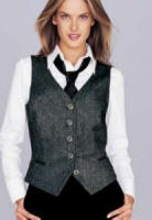940718 Black and white tweed effect waistcoat 6-22 �34.99. 939675 White stretch shirt 6-22 �14.99