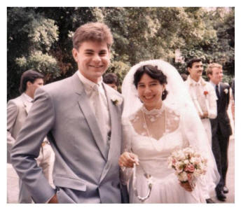 Gary And His Bride 1980 S Wedding Dress