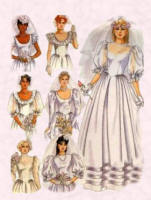 Typical mid 1980s wedding dress pattern