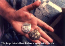 Lac Jewellery 3 - The imprinted silver hollow casing with the die.