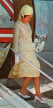The queen wears a weighted skirt so she can alight a plane with dignity