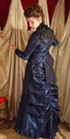Navy Taffeta 2 Piece Set