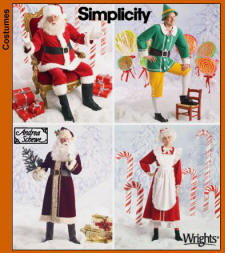 Simplicity Pattern 4393 of Father Xmas Costume