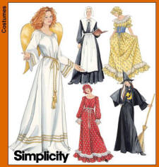 Simplicity Pattern 5373 - Easy Costume Patterns for Angels and Puritans.