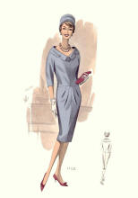 Slim Sheath Dress of 1960 -1963