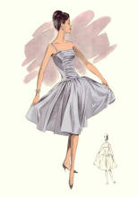 Full Skirted 1960s Evening Dress