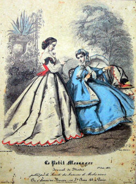 Le Petit Messager des Modes Fashion Plates 1864.