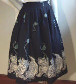 1950s  Jiving skirt with kitten border from anothertimevintageapparel.com