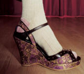 Topshop autumn winter 2005/6 brocade wedge shoes.