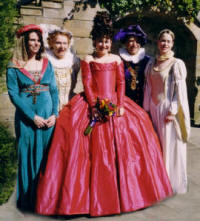 Ceri the Bride in her Elizabethan and Tudor  Fancy Dress ThemedWedding  Picture
