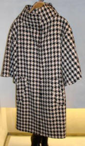 Zara black and white check coat.