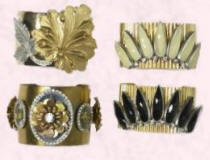 New Look Autumn/Winter 07/08 Collection of Cuffs - Legend (big flower) cuff �15/�21.  Oak leaf cuff �8/�11, Fan cuffs �12/�17.