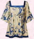 Dorothy Perkins Spring/Summer 2007 collection, blue and cream floral smock - �24/�40