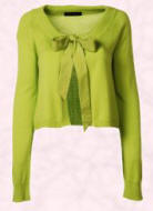 Dorothy Perkins Spring/Summer 2007 fashionable lime tie-neck cardigan - �20/�35.