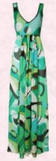 Green geo-print chiffon maxi dress - �35/�55 from Dorothy Perkins Spring/Summer 2007