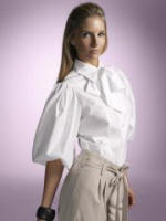 White poet shirt at �65 is by Helen Berman and available from House of Fraser