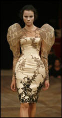 Alexander McQueen dress.