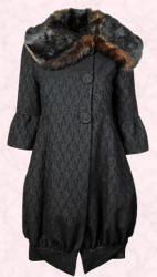 Erica Bubble Hem Coat by Monsoon - 2007 Fashion History.