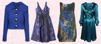 Blue Fashion Trends for Fall 2007, Winter 2008 from Dorothy Perkins, Evans and Monsoon.