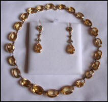 Antique Jewellery - Edwardian Citrine  Necklace