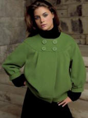 Debenhams - J Taylor Green Cropped Jacket - 2007 Fashion History.