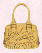 Paul Smith yellow handbag with studs.
