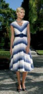 Phase Eight striped dress �120, belt �35, Shoes �80.