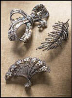 These 3 brooches are from Plumo and they pick up the current fad for bows and leaves in jewellery.