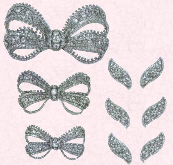 Picture Of Diamond Bows And Shuttles For Dress Decoration Costume Fashion History Jewelry