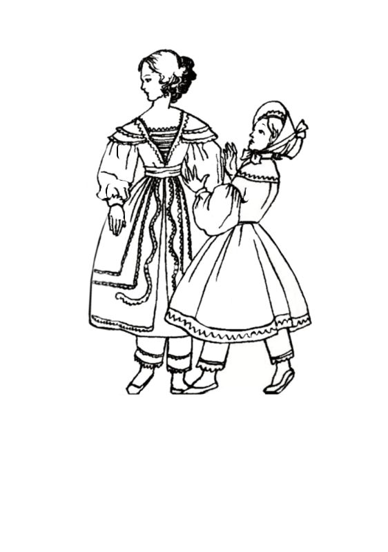 children in costume history 1830 to 1840 romantic childrens fashions 20th Century Girls Dresses girls in fashions 1830