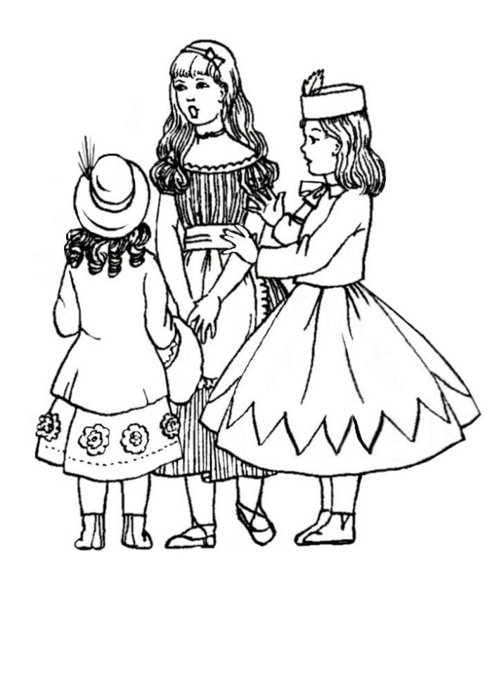 children in costume history 1860 70 victorian fashions for girls Style 1950s Clothing Poodlekirt three young girls in fashions of 1870
