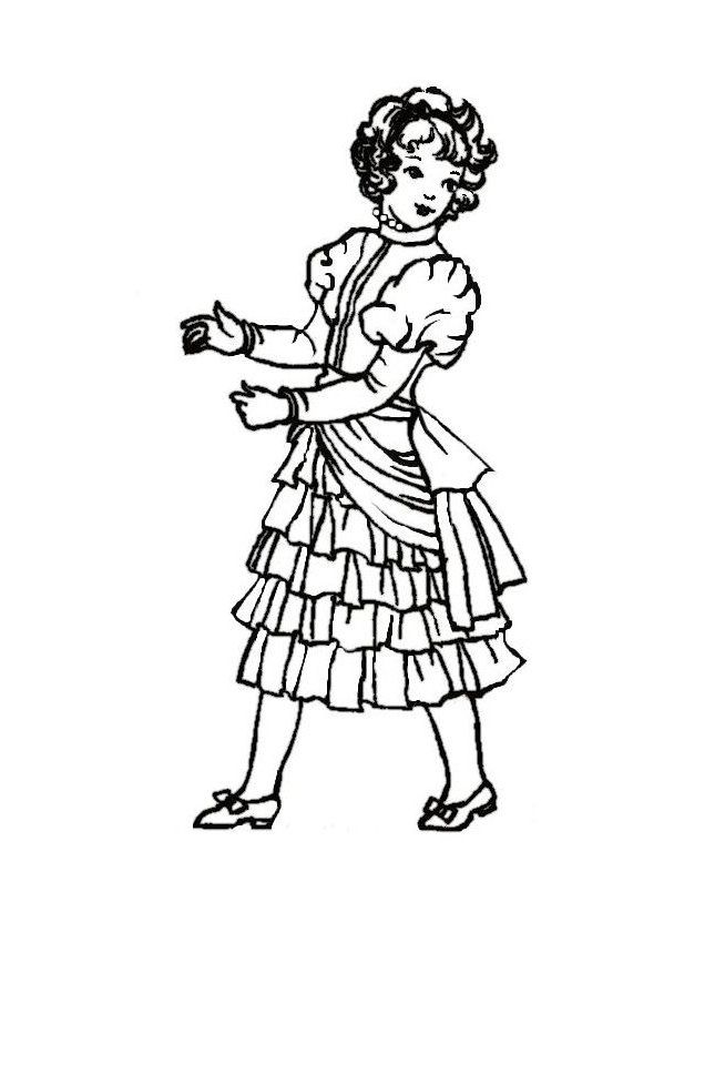 children in costume history 1880 90 late victorian fashions for 1980s Shoes 1885 young girl in frilled bustle dress costume drawing