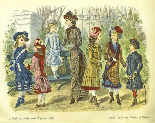 jon_1881_children girl's clothes in c19th children's costume history with pictures,Childrens Clothes Victorian Era