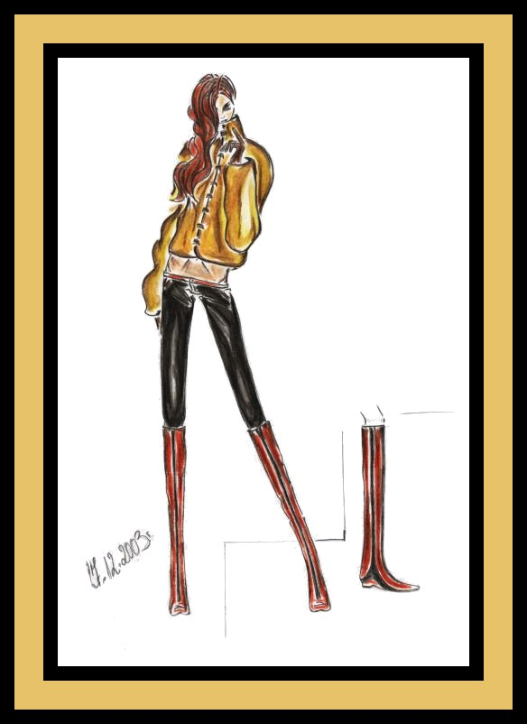 Fashion Boots Drawing Fashion Drawing Fashion