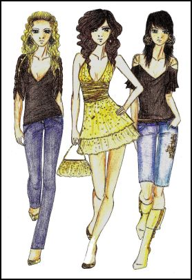 Fashion-era fashion design pages. Fashion Drawings by Anne Westphal - Gallery 28 - Designed in 2008