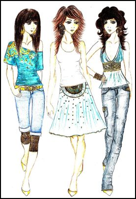 Fashion-era fashion design pages. Fashion Drawings by Anne Westphal - Gallery 29 Designed in 2007