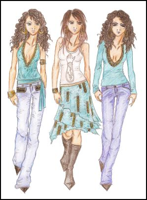 Fashion-era fashion design sketches. Fashion Drawings by Anne Westphal - Gallery 31 Designed in 2006
