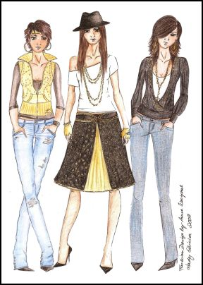Fashion Drawings by Anne Westphal - Gallery 28