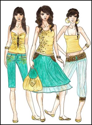 Fashion Drawings by Anne Westphal - Gallery 28 - Designed in 2008