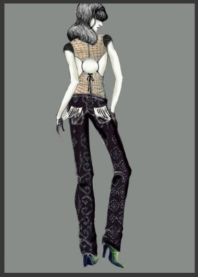 Fashion Drawing by Florina Becichi