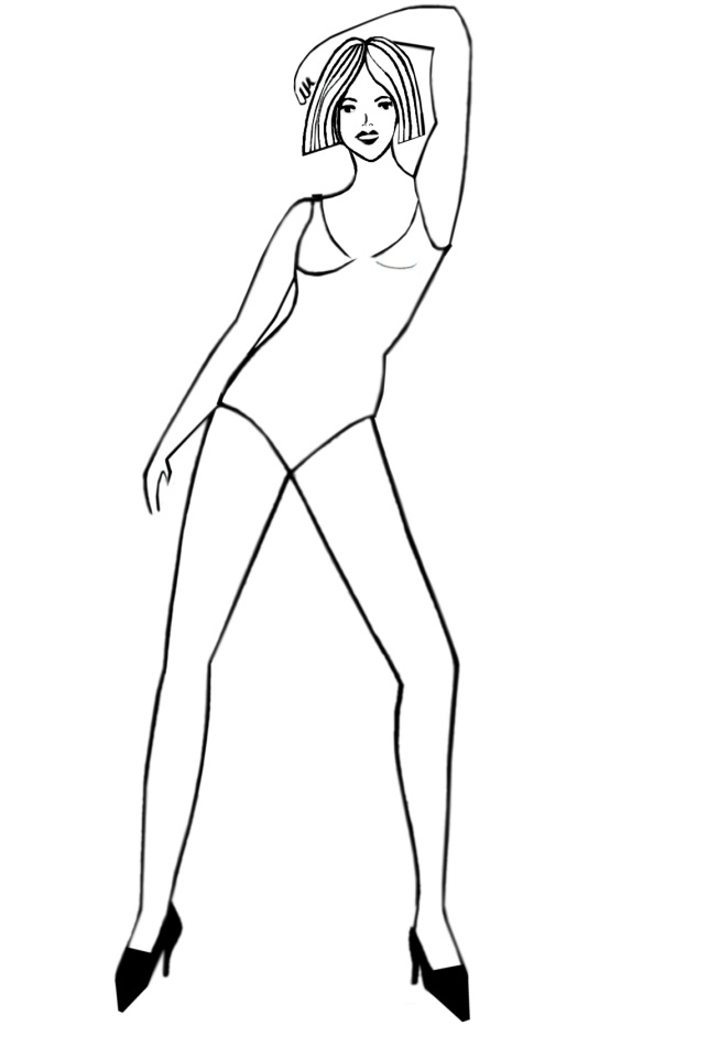Fashion Manikin Drawing The Fashion Drawing Female