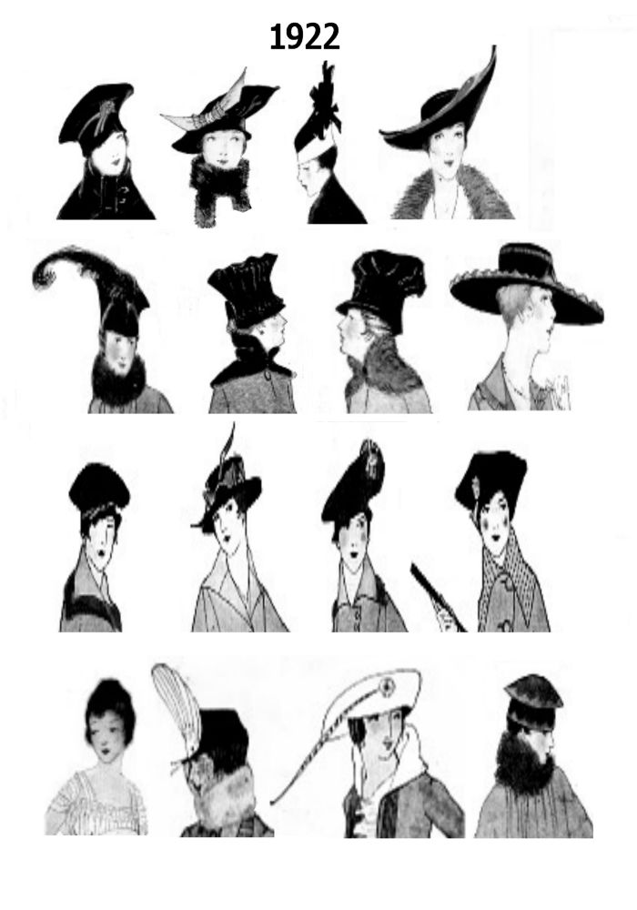 1920s Pictures Hats 20s Hair Style Fashions - Fashion History ... 3416787d339