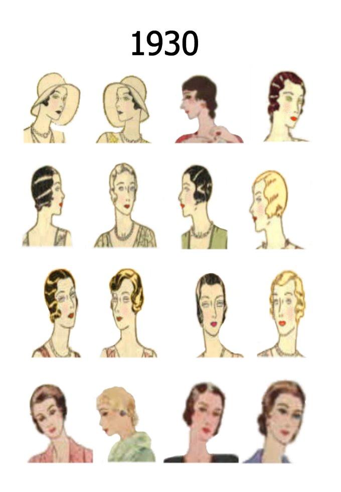 Admirable Hat And Hair Styles Fashion History 1930 1940 Short Hairstyles Gunalazisus
