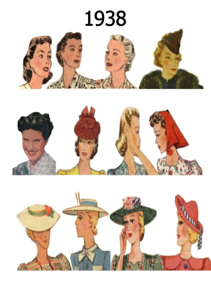 Phenomenal Hat And Hair Styles Fashion History 1930 1940 Hairstyle Inspiration Daily Dogsangcom