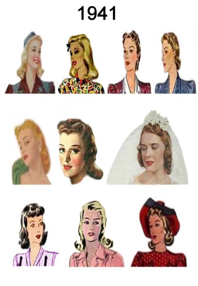 Superb 1940 1945 Pictures Of Hairstyles And Hats In 1940S Fashion History Short Hairstyles Gunalazisus