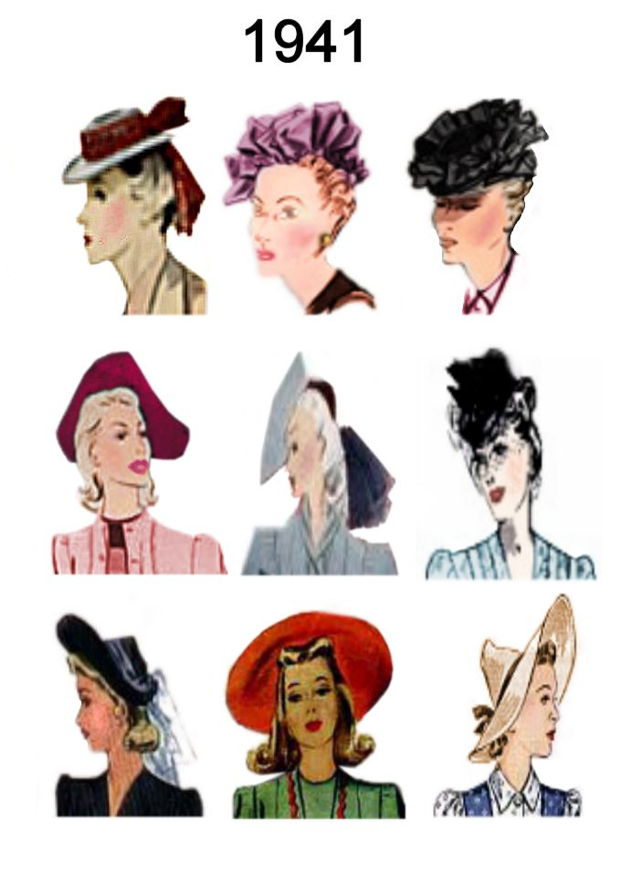 Wondrous 1940 1945 Pictures Of Hairstyles And Hats In 1940S Fashion History Short Hairstyles Gunalazisus