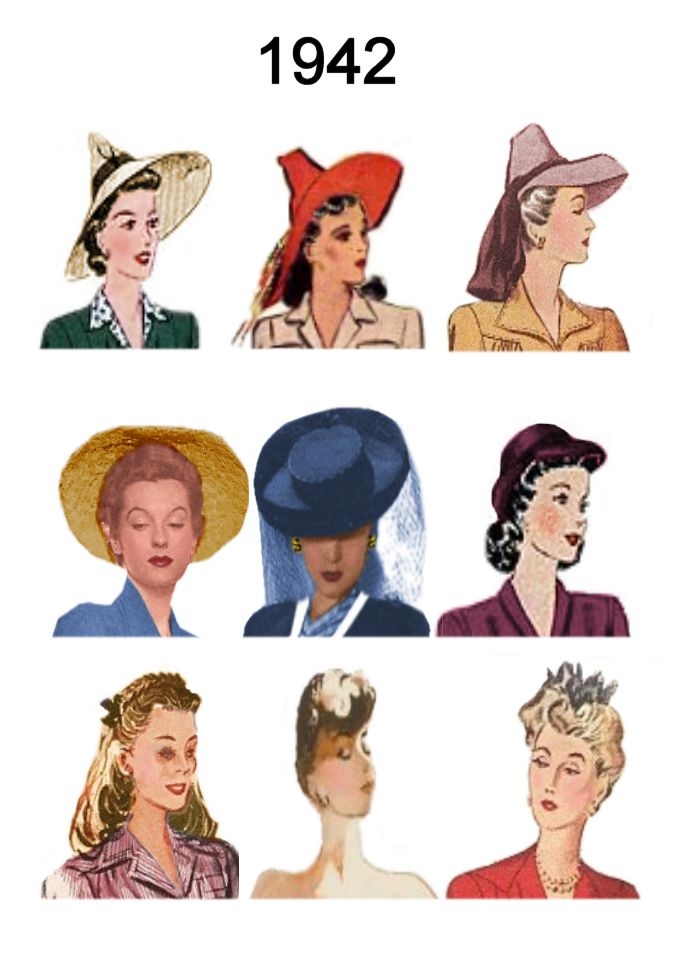 Pictures of Hats Hair Styles 19401945