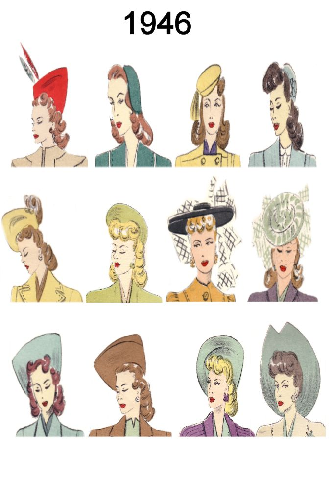 hot guy hairstyles : ... of C20th Hair Styles & Hats Fashion History 1946 Costume History